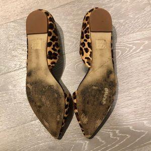 J. Crew Shoes - J.Crew D'Orsay Leopard Flats